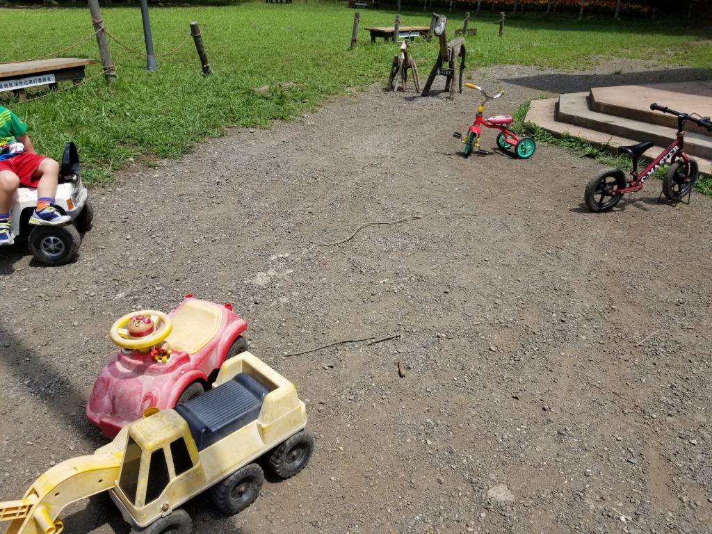 少年の森の小さい子用自転車